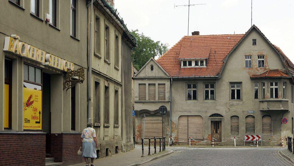 """Straßenzug im brandenburgischen Wittstock: """"Der Osten hat auch Erträge vorzuweisen"""""""