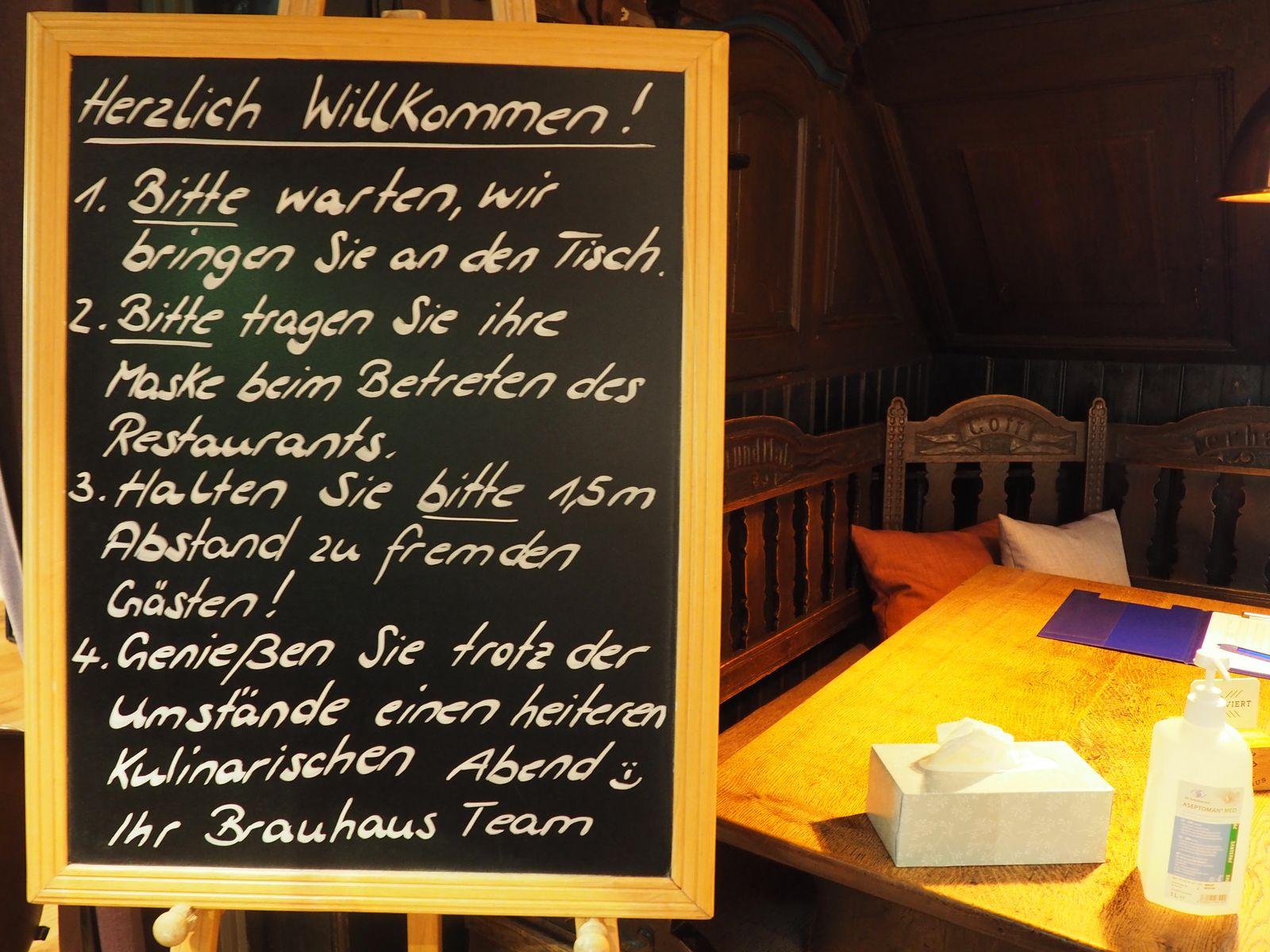 """Restaurant, das """"Altes Brauhaus"""" in Lüneburg."""