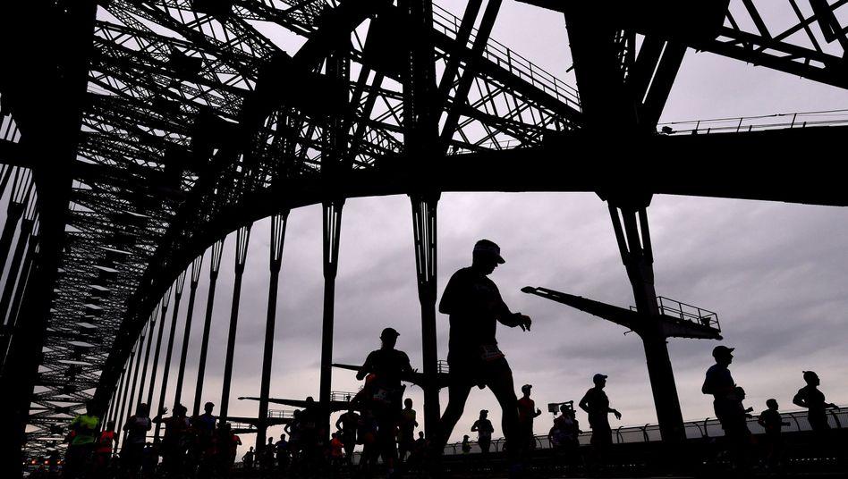 Läufer beim Sydney Running Festival