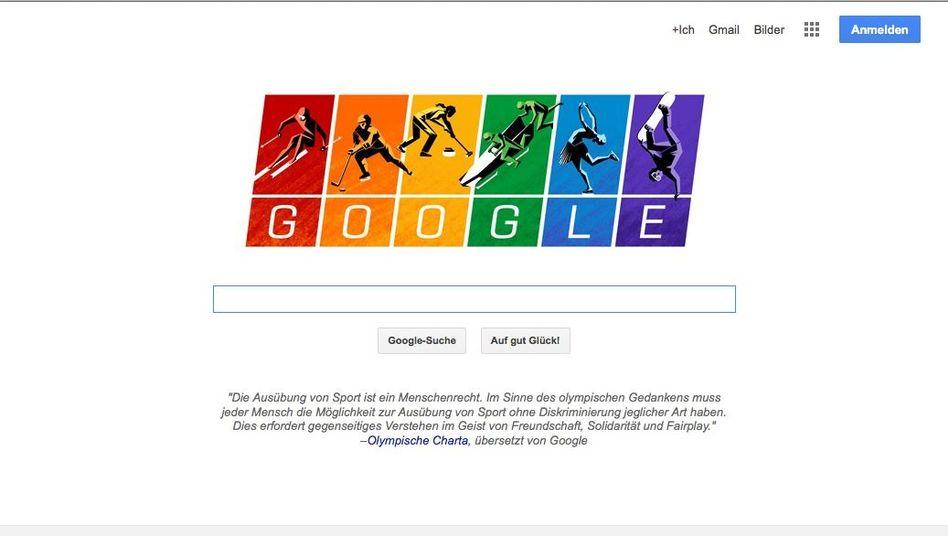 Rot, Orange, Gelb, Grün, Blau, Violett: Google-Doodle gegen Diskriminierung