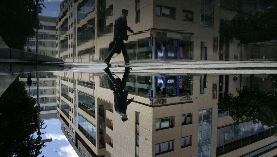 Bankenviertel in Dublin: Die irische Finanzbranche leidet
