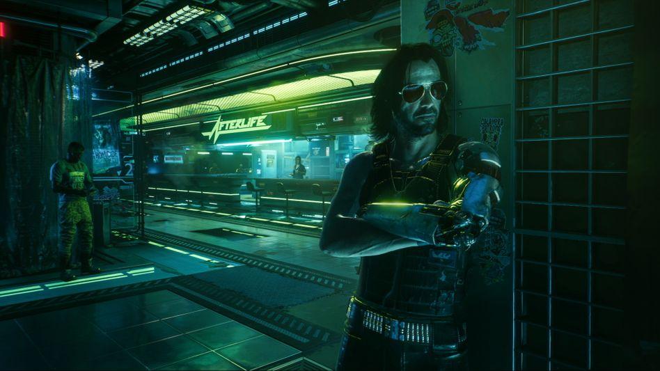 Animierter Darsteller Reeves in »Cyberpunk 2077«: Rockstar und Terrorist