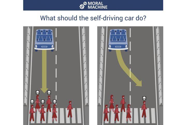 Szenario der Moral Machine: Wenn es keine richtige Antwort gibt