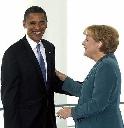 Merkel met Obama in July during his visit to Berlin.