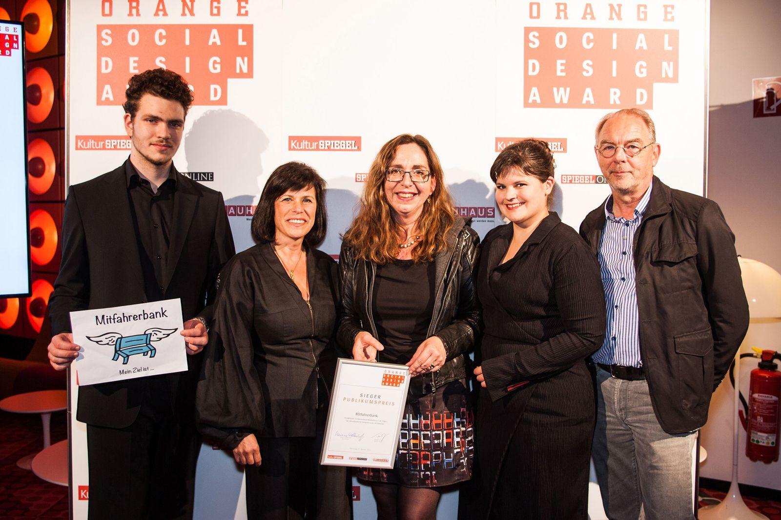 EINMALIGE VERWENDUNG Orange Social Design Award