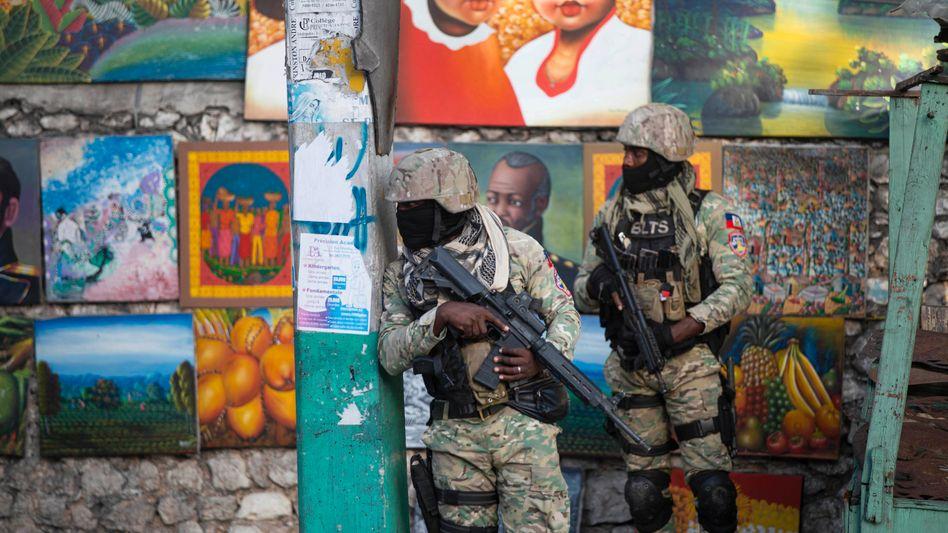 Soldaten in Port-au-Prince