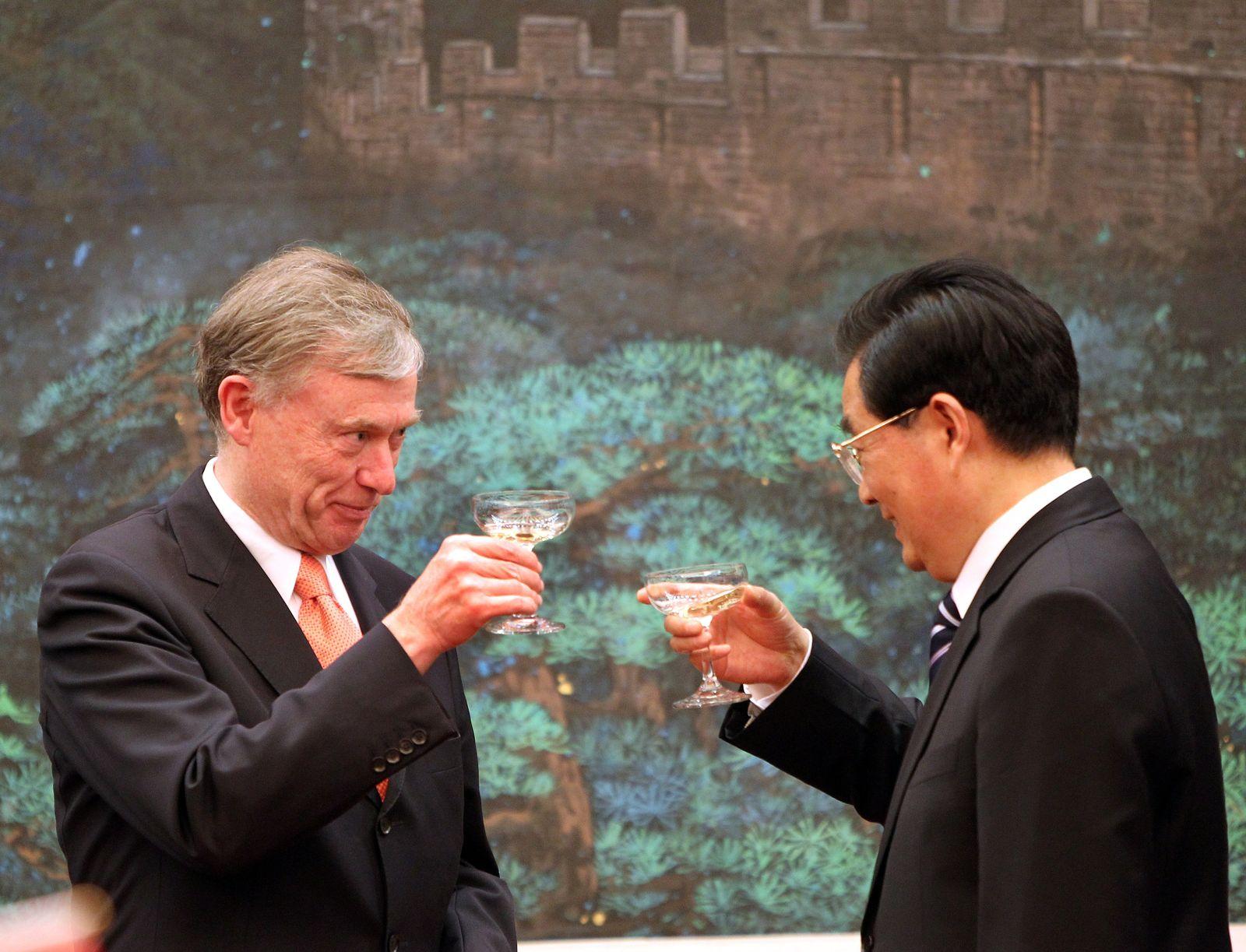 Köhler mit Hu Jintao