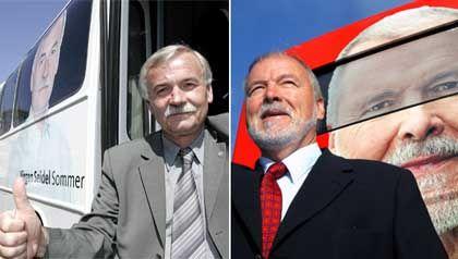 Kandidaten Seidel (l.), Ringstorff: Bleibt Rot-Rot an der Macht?