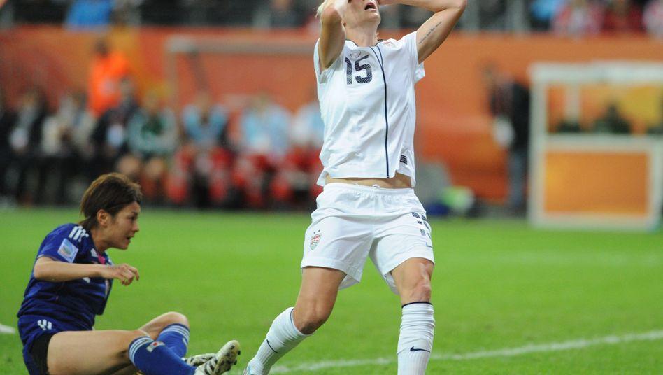 US-Spielerin Megan Rapinoe (rechts): Verzweifelter Kampf, furiose Quoten