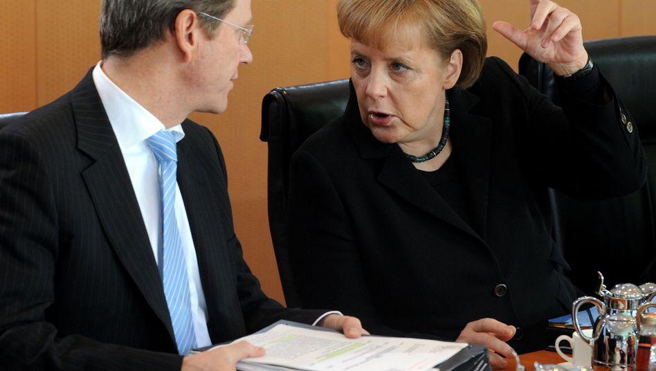 """Kanzlerin Merkel mit Westerwelle: """"Selbstverständliches sollte selbstverständlich bleiben"""""""