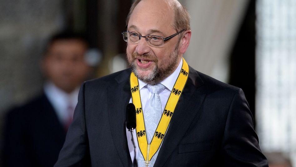 """SPD-Politiker und Karlspreisträger Schulz in Aachen: """"Warum sind wir nicht stolz?"""""""
