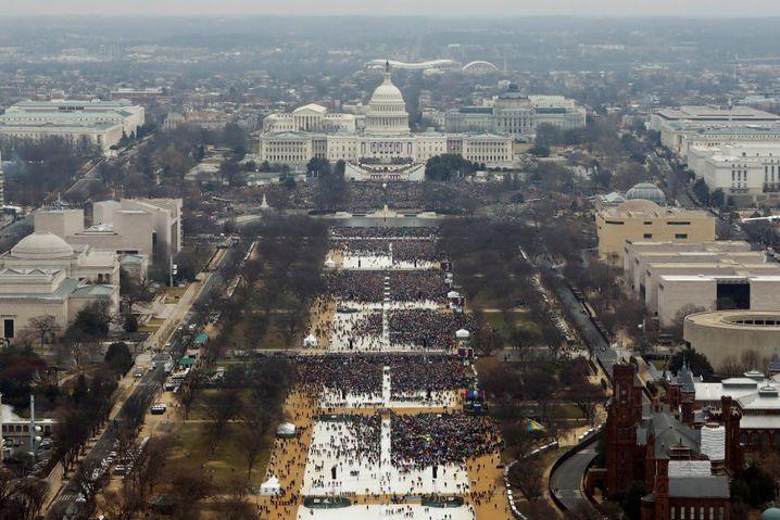 Besucher bei Trumps Amtseinführung