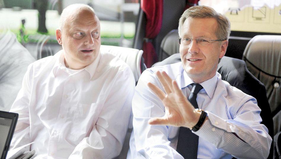 Olaf Glaeseker mit Christian Wulff: Das Tagebuch von Vera Glaeseker soll aufklären helfen
