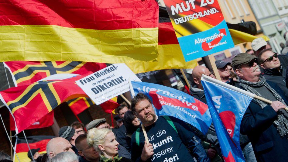 AfD-Demo in Stralsund