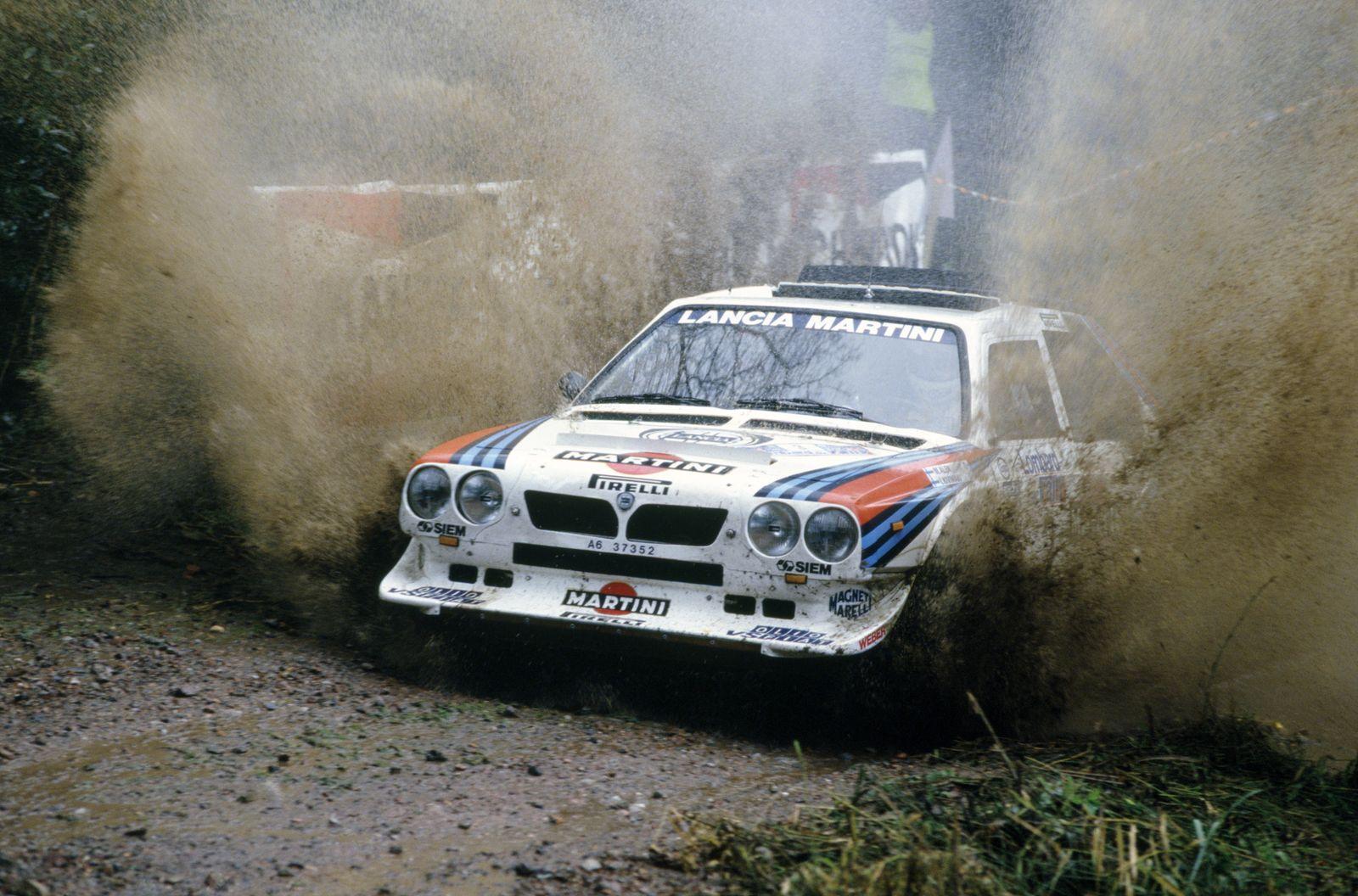 1985 World Rally Championship. Lombard RAC Rally, Great Britain. 24-28 November 1985. Markku Alen/Ilkka Kivimaki (Lanci