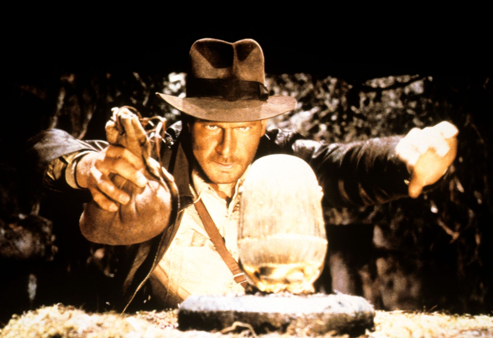 """""""Raiders of the Lost Ark"""" Harrison Ford © 1981 Paramount"""