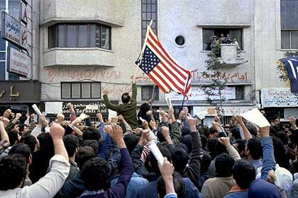 An anti-American demonstration in Tehran after Iranian students stormed the US Embassy in November 1979.