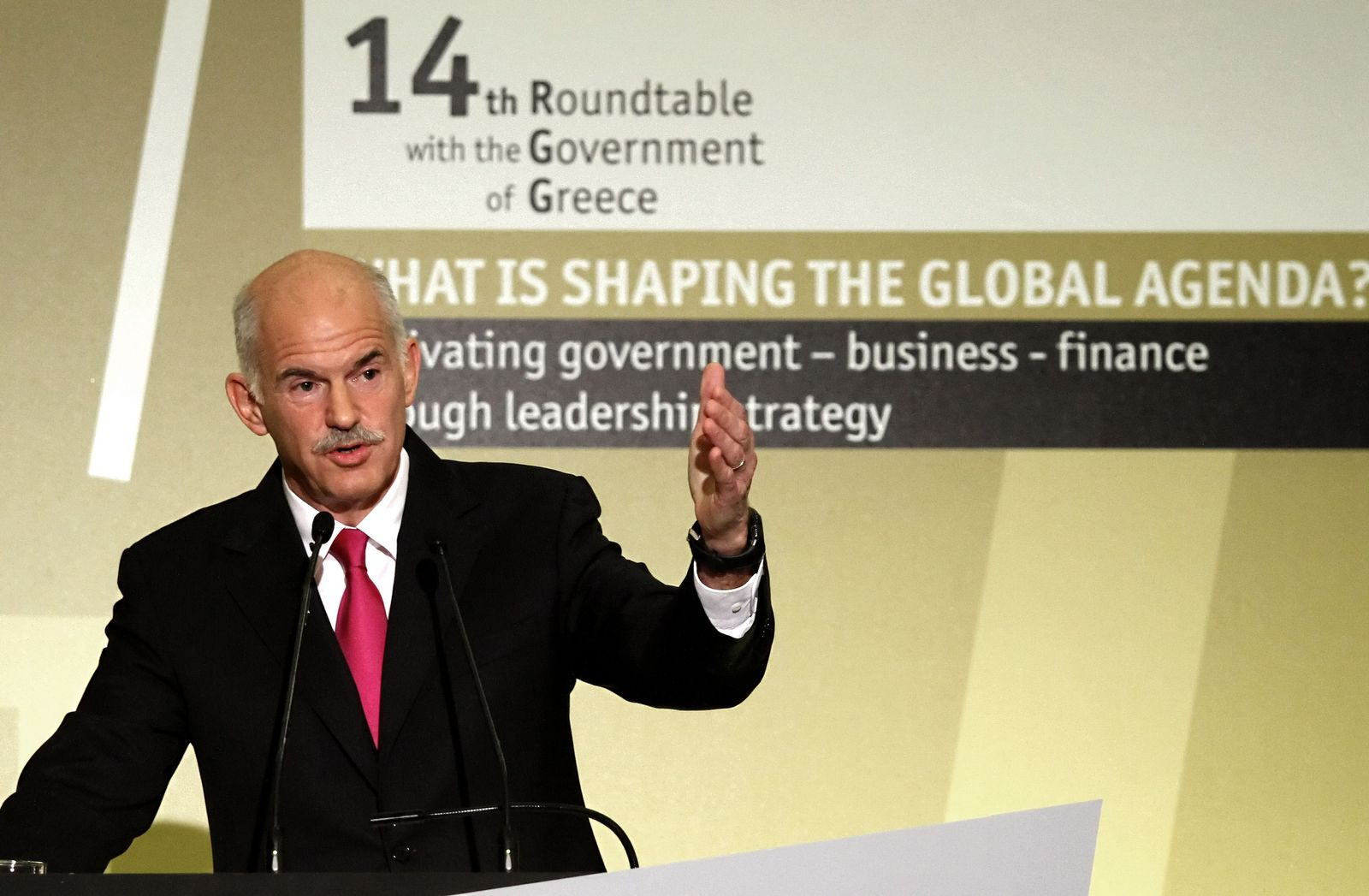 Papandreou/ Economist conference