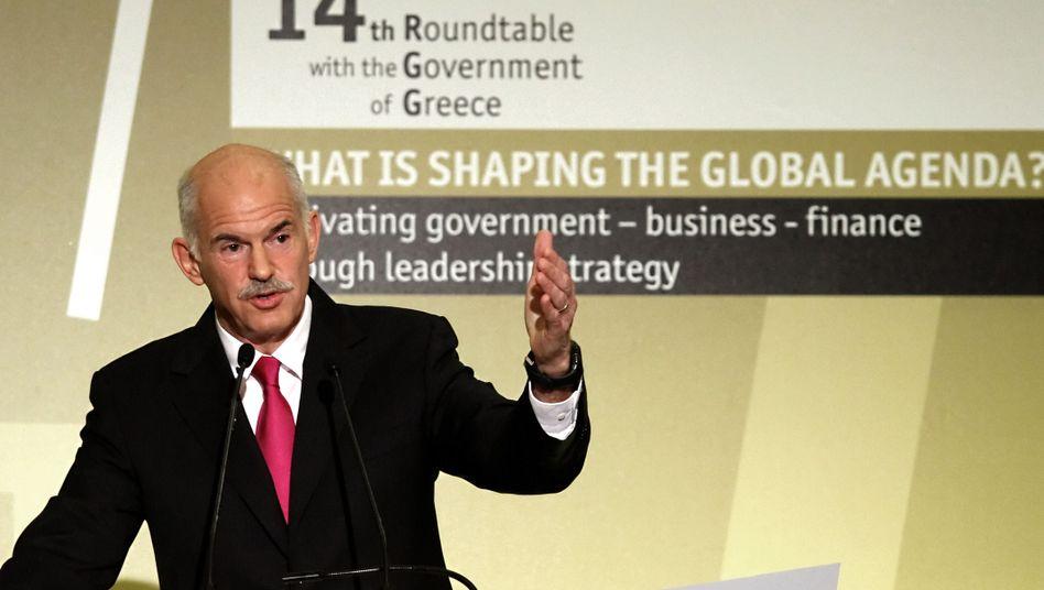 Griechenlands Premierminister Papandreou: In der sich selbst erfüllende Finanzkrise