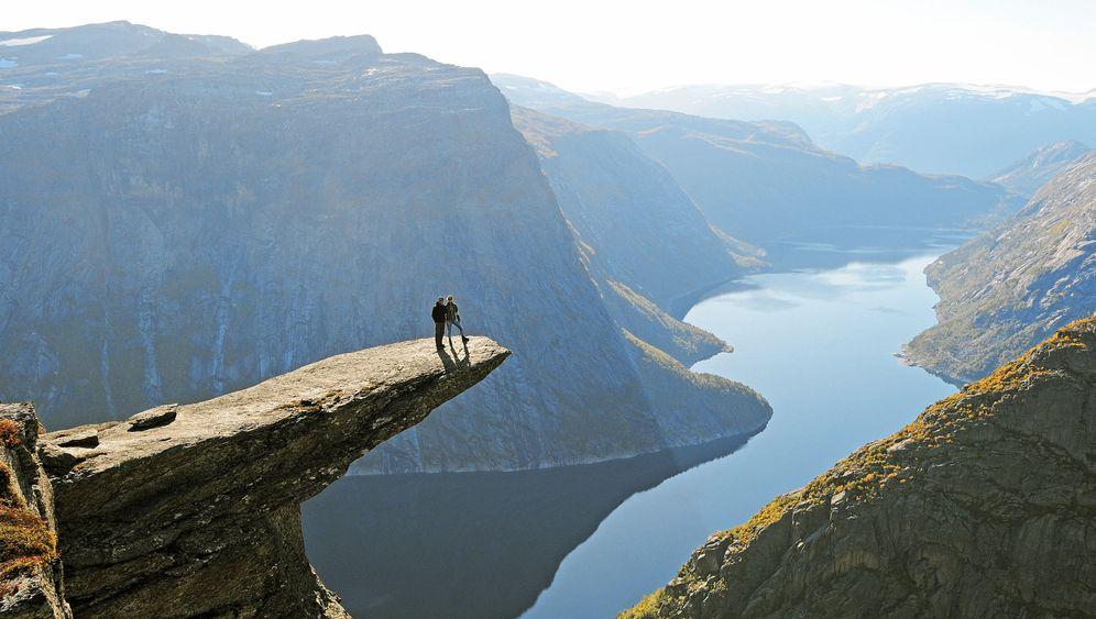 Norwegens Natur: Gefahr am Lysefjord