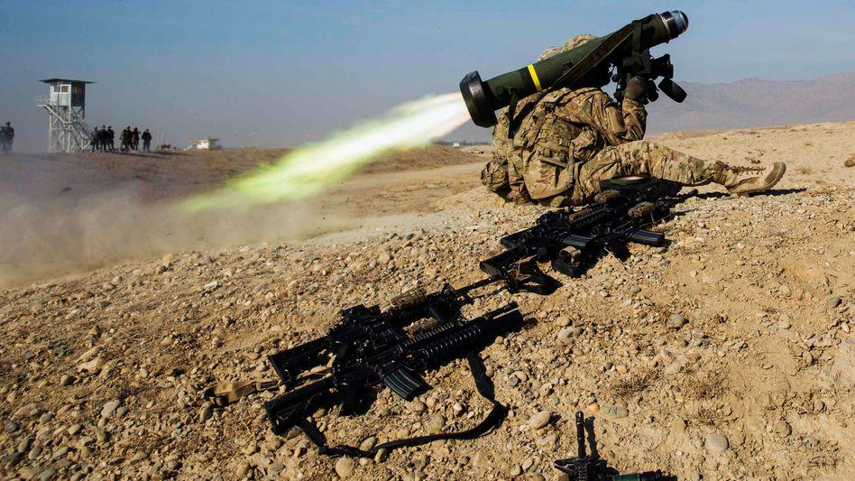 "US-Soldat mit ""Javelin""-Rakete (Archivbild)"