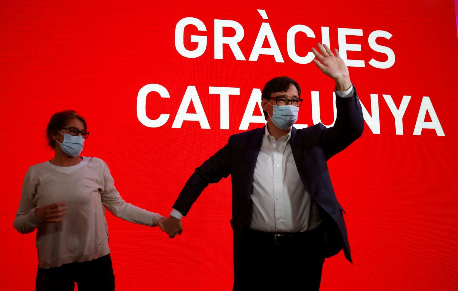 Catalonia's regional elections, Barcelona, Spain - 14 Feb 2021