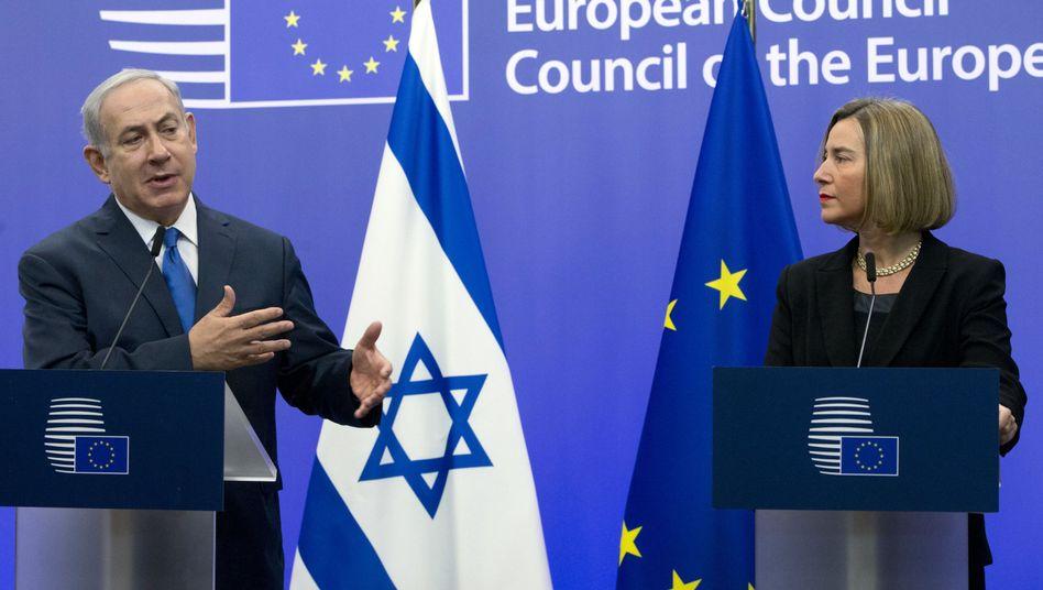 Israels Premier Netanyahu, EU-Außenbeauftragte Mogherini