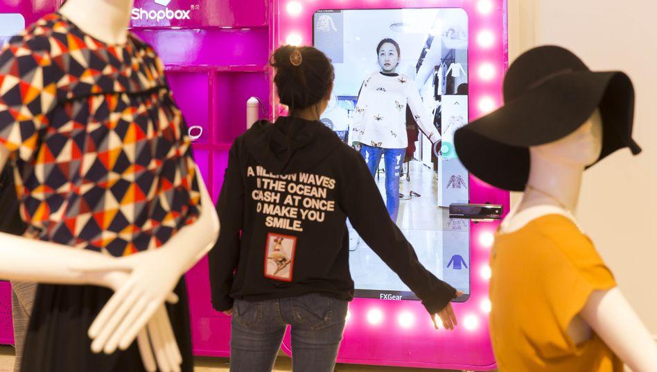 """3-D-Umkleidekabine in China: """"Das hat einen Wow-Effekt"""""""