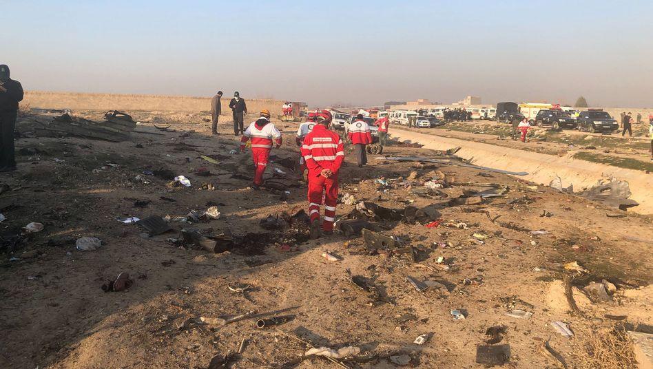 Wrack der abgestürzten Boeing 737-800 der Ukraine International Airlines