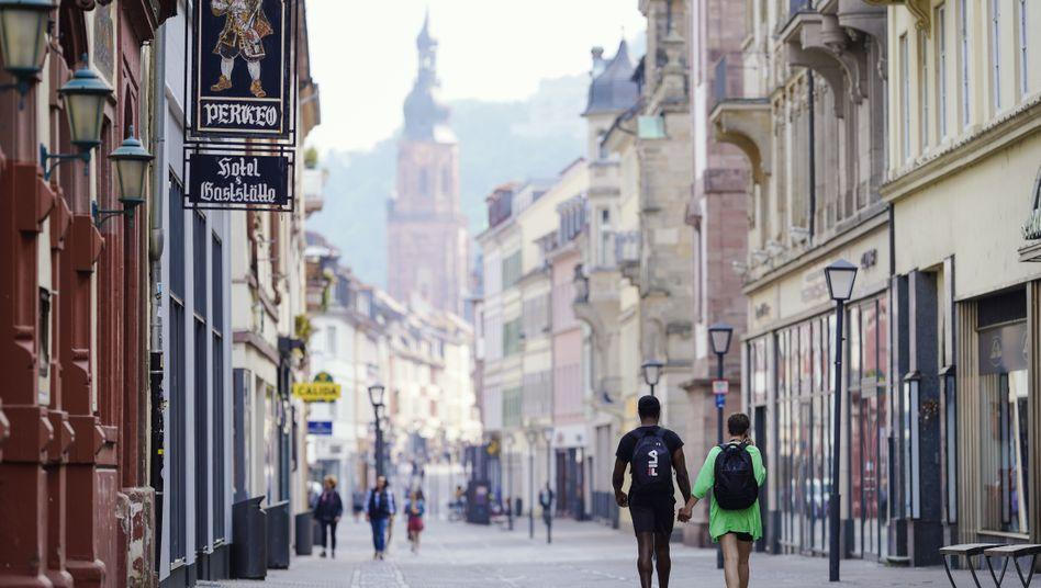 Fußgängerzone in Heidelberg: gewinnmaximierte Eintönigkeit