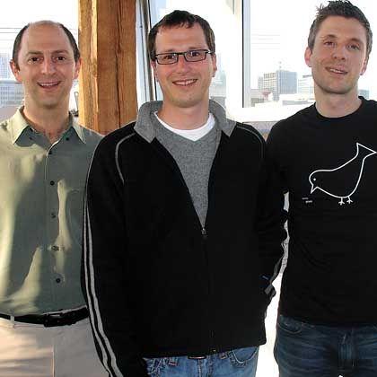 """Google-Herausforderer Pell, Newcomb, Thione (von links): """"Technologische Revolution"""""""