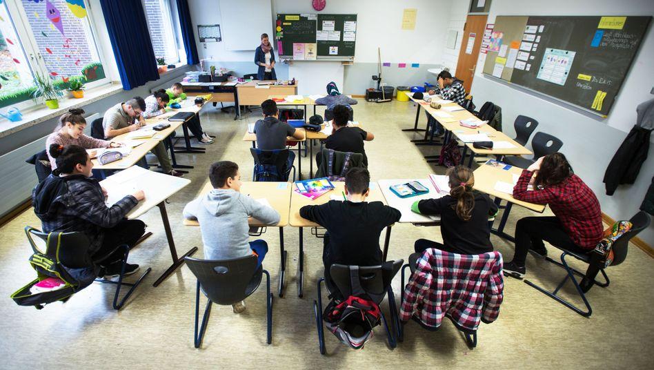 Flüchtlingskinder im Unterricht (Archivbild)