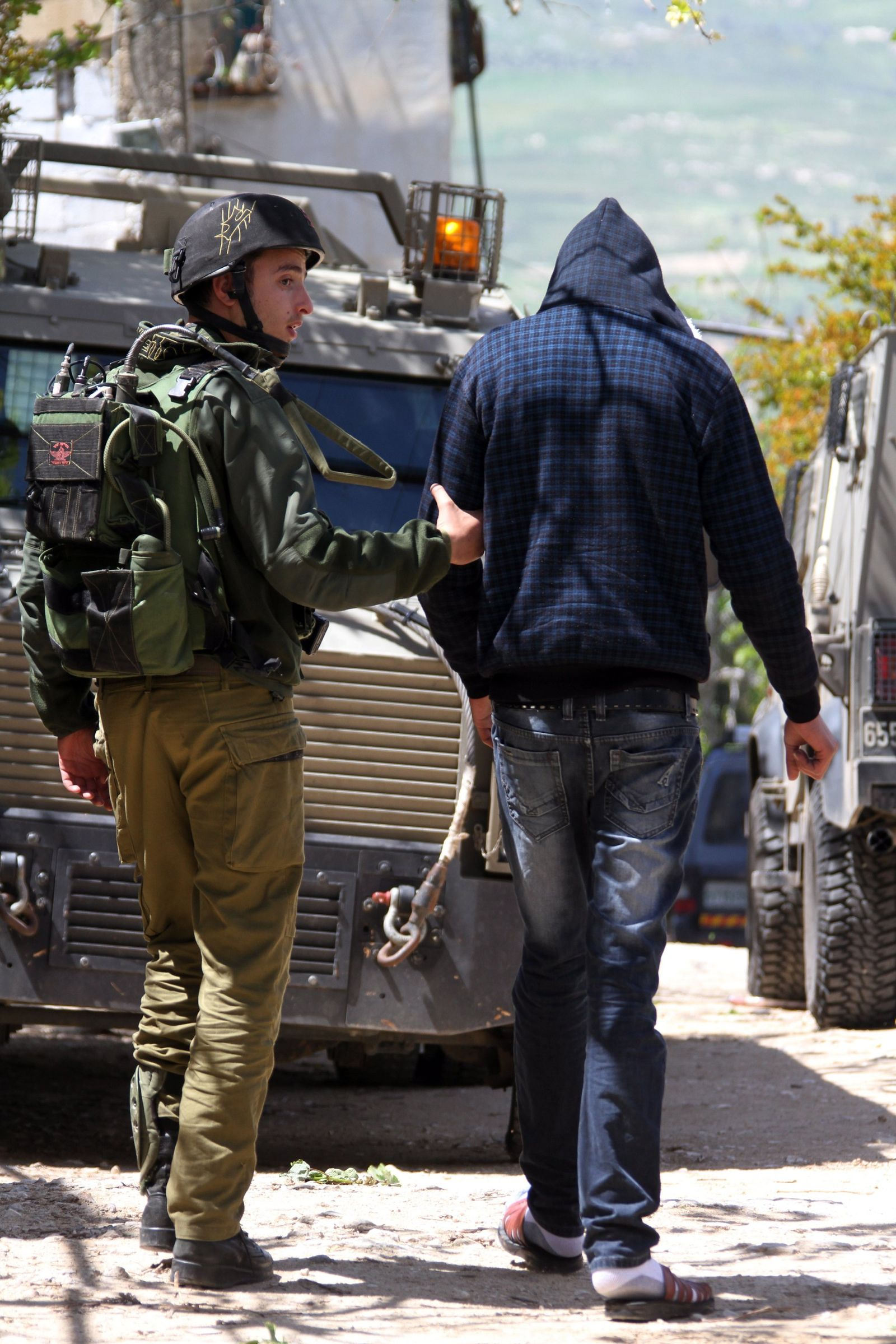 Festnahme in Awarta, Westjordanland