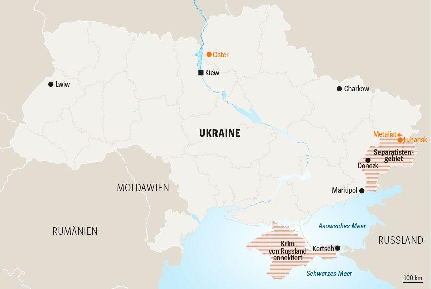 Karte Ukraine Serie Präsidentschaftswahl Tag 3
