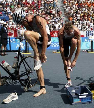 Schuhwechsel: Zeitraubendes Übel eines Triathleten