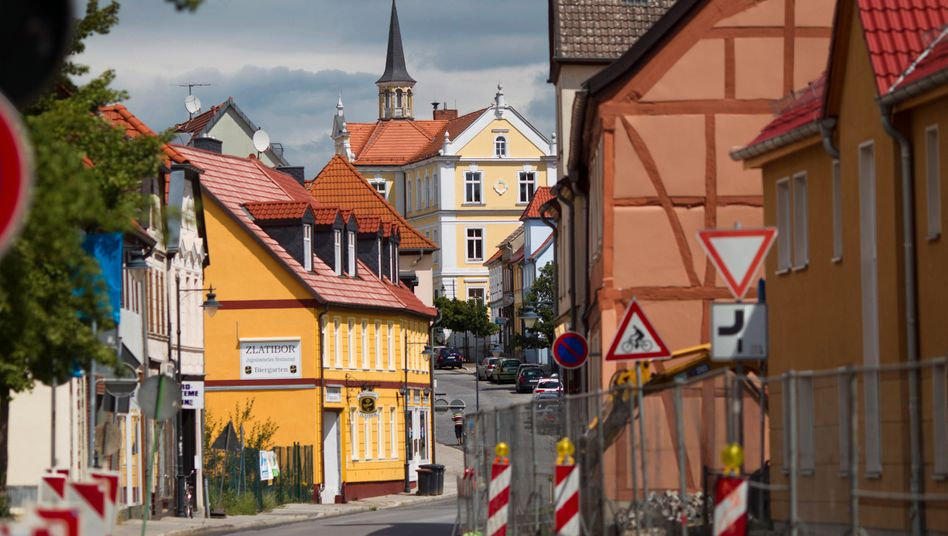 Die Kleinstadt Burg in Sachsen-Anhalt