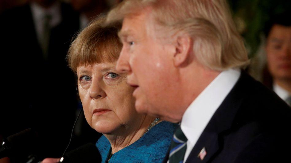 Merkel, Trump (bei einer Pressekonferenz im März 2017)