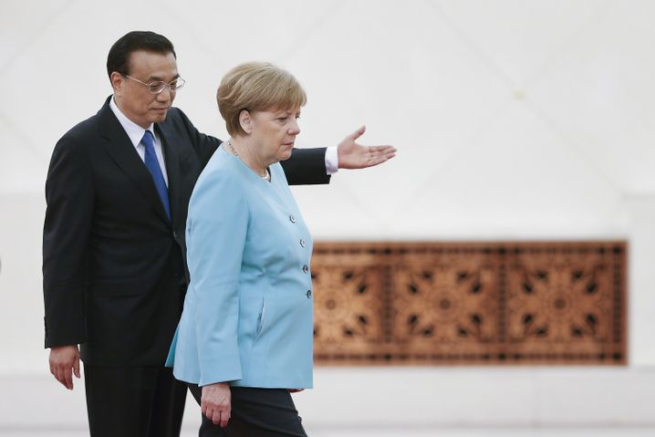 Premier Li, Kanzlerin Merkel
