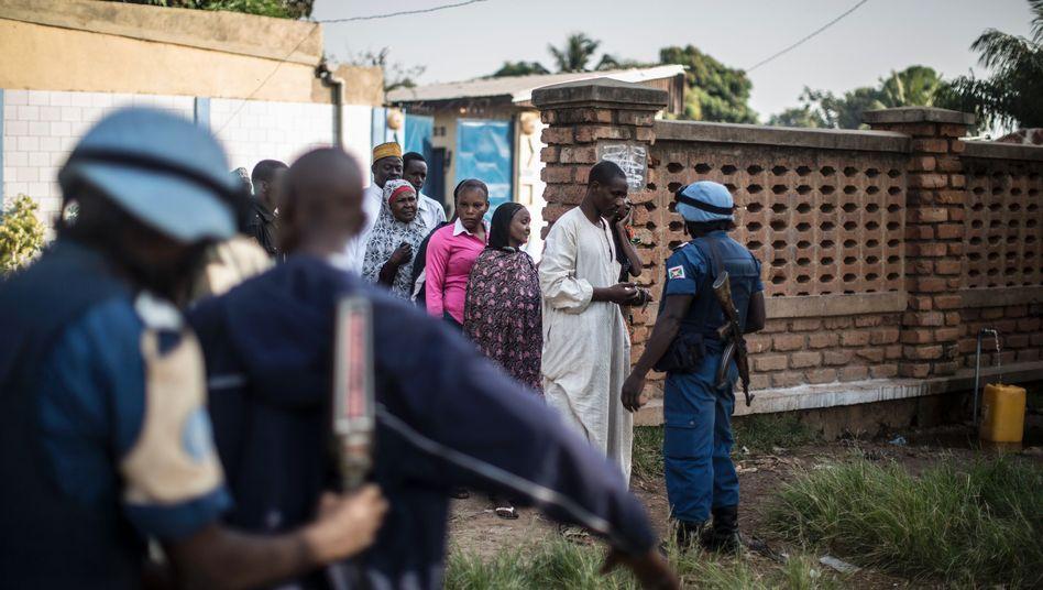 Blauhelm-Soldaten der Minusca-Mission in der Zentralafrikanischen Republik