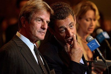 """French Foreign Minister, Bernard Kouchner (left) and French President Nicolas Sarkozy: """"He gives me all kinds of latitude to act and do as I see fit."""""""