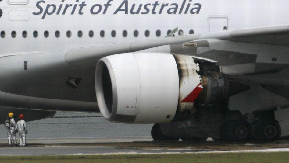 Riesen-Airbus: A380 muss nach Triebwerksbrand notlanden