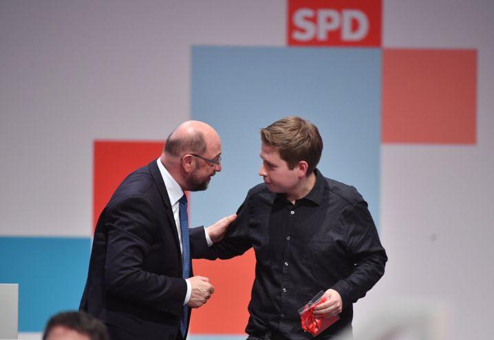 Martin Schulz und Kevin Kühnert