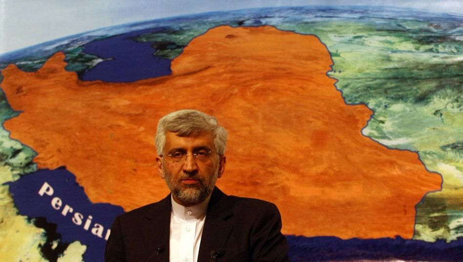 Iran's chief nuclear negotiator, Said Jalili, answers journalists' questions as Iran and six world powers open talks on Tehran's disputed nuclear program in Istanbul.