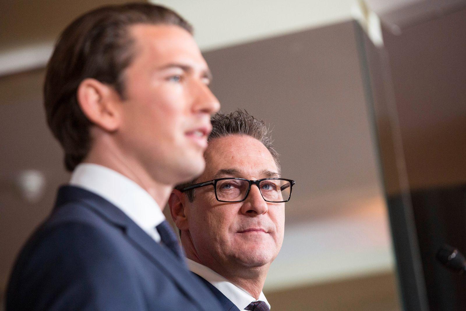 Wien 16 12 2017 ÖVP und FPÖ präsentierten heute auf dem Kahlenberg nach der gestrigen Einigung