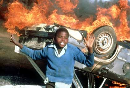 Anti-Apartheid-Demo am 10. Juli 1985