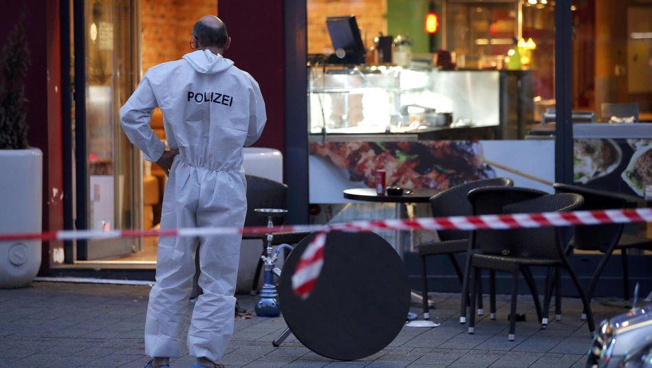 Polizist am Tatort in Reutlingen