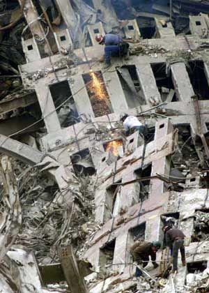 Was vom WTC bleibt: Ein Trümmerfeld