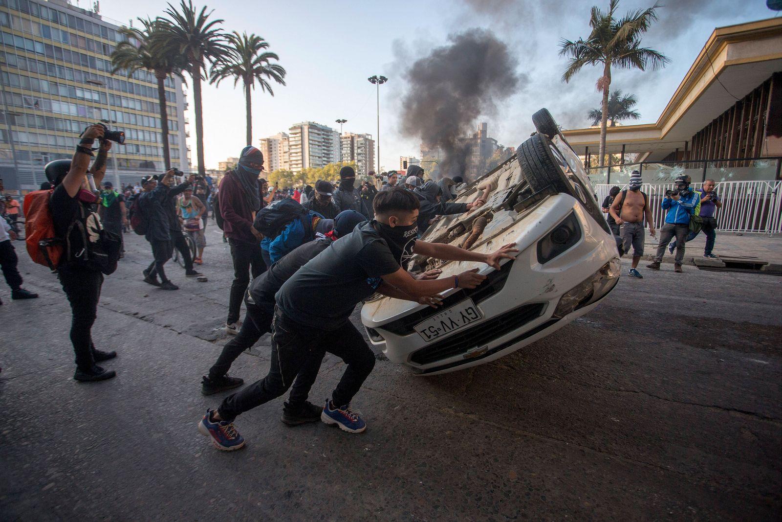 Vina del Mar, 23 de Febrero de 2020. Protestas en alrededores de la Quinta Vergara Cristian Rudolffi/Aton Chile, Vina d
