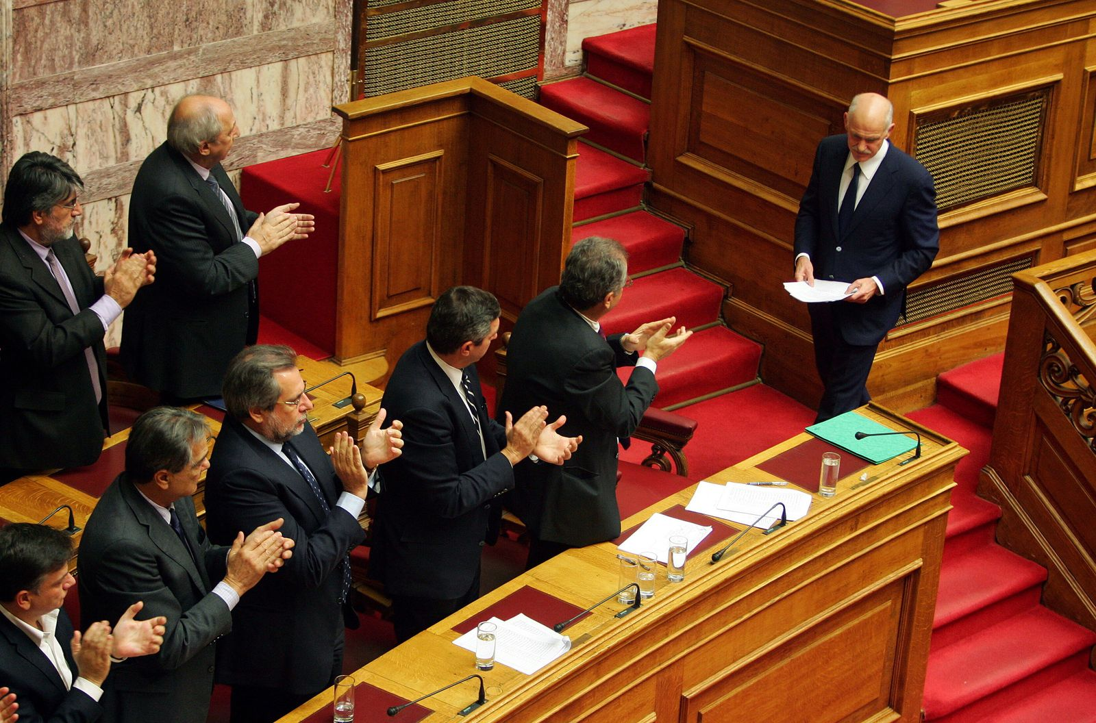 Debate in the Greek Parliament on vote of confidence