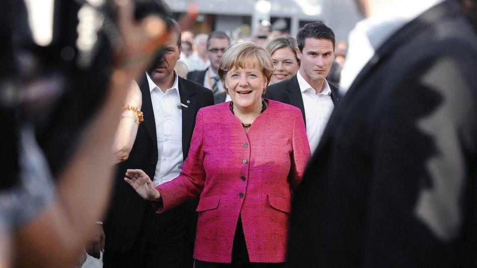 Bundeskanzlerin Merkel: Am Wahlwochenende noch einmal das Pinguinmädchen besuchen
